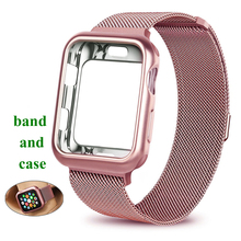 купить Case+strap for Apple Watch band 4 44 mm iwatch band 42mm 38/40mm Milanese Loop bracelet watchband watch Accessories series 4 3 2 дешево