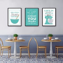 5 Colors Europe Enjoy Kitchen Life Quote Canvas Painting Poster and Print Wall Art Pictures Home Decoration