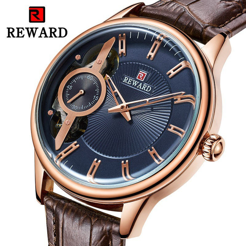 Skeleton Watch 2019 Sport Mechanical Wristwatch Luxury Mens Watches Top Brand Leather Montre Homme Clock Men Automatic Watch|Mechanical Watches| |  - title=