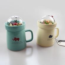 Creative Cartoon Animal Micro Landscape Caneca Milk and Coffee Mug 400mlHigh-capacity Office Ceramic Cups Beauty Gifts