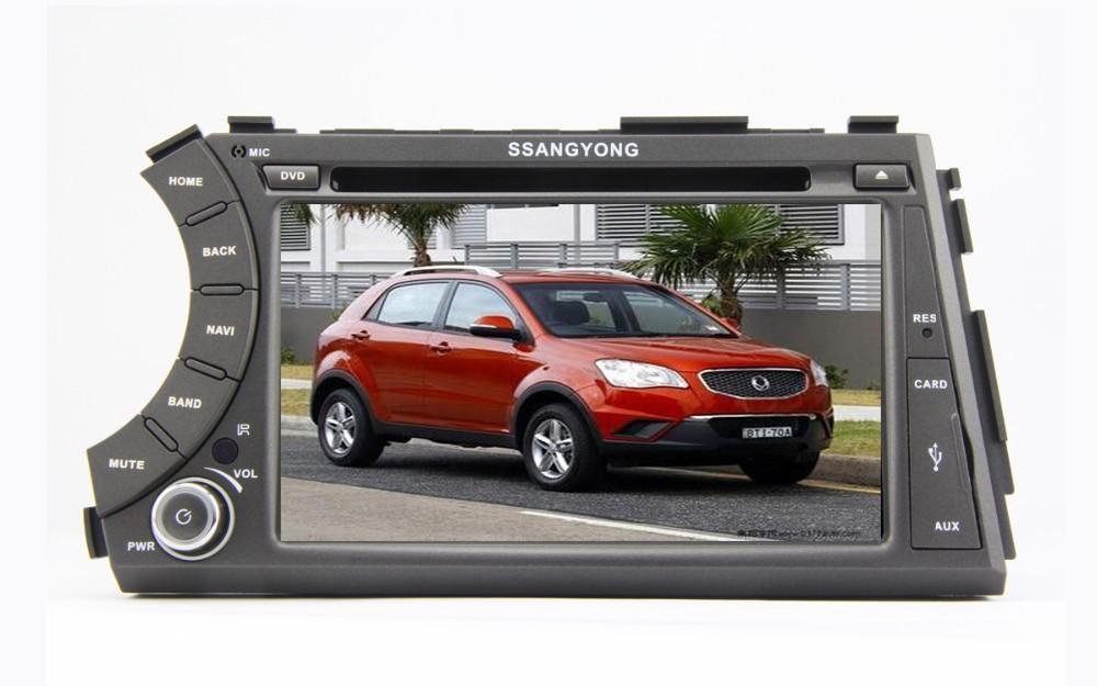 Pur Android 5.1 GPS Navigation voiture DVD pour SsangYong Actyon Sports/Kyron 2005-2013 écran tactile capacitif 1 GHz CPU 1G RAM