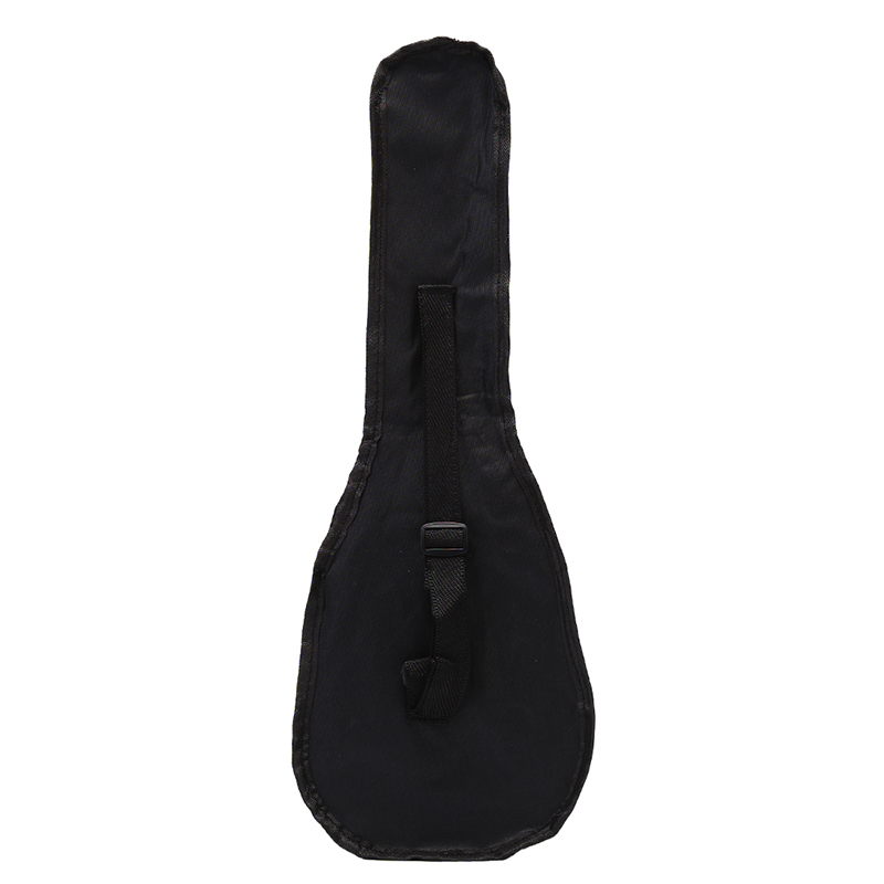 Black Ukulele Bag Soft Case Bag Single Shoulder Backpack Padded 55.5*20cm 21 Inch High Quality