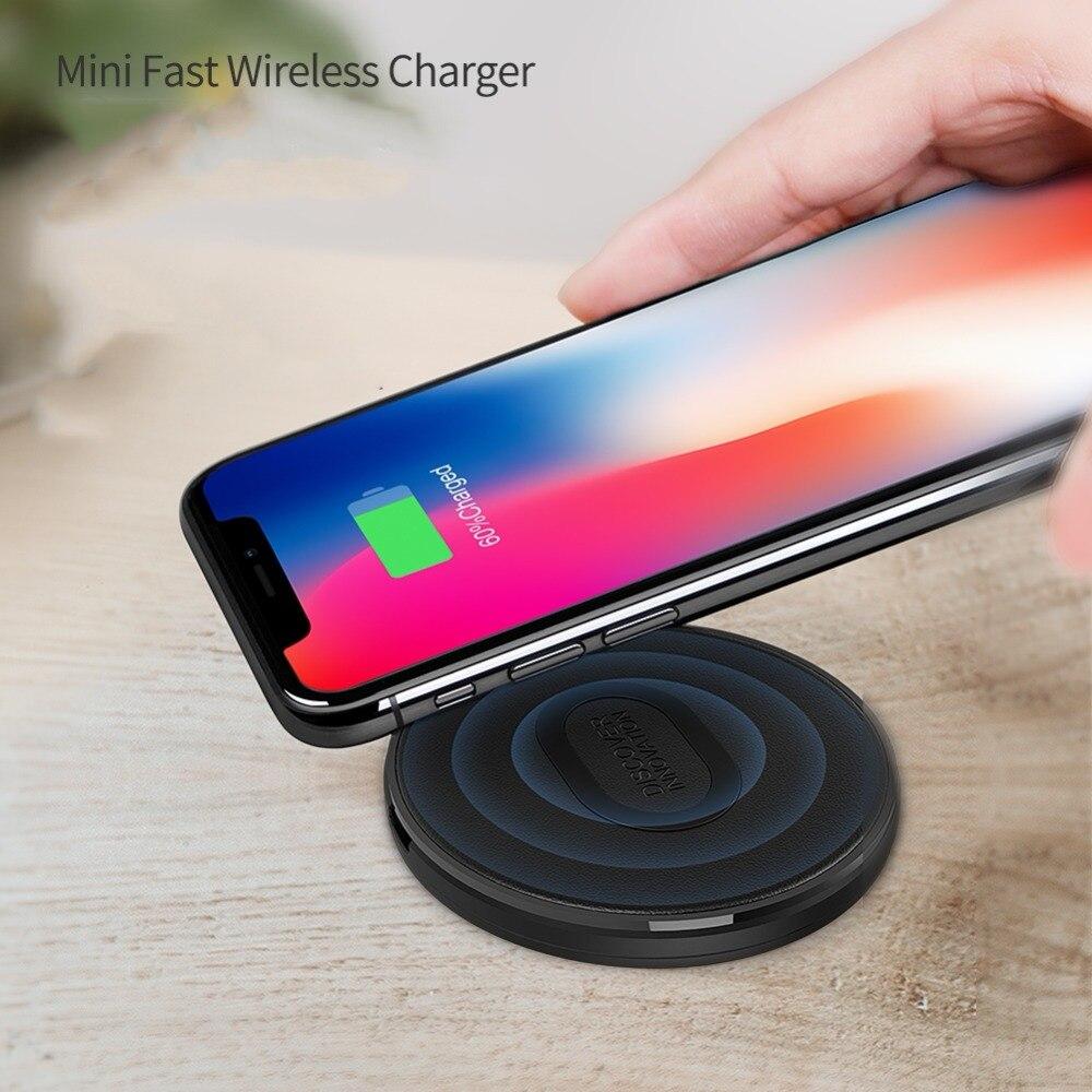 Nillkin Mini QI Wireless-ladegerät Lade-pad für Samsung Galaxy S9/S9 +/S8/S7 Rand S6 10 Watt schnelle Qi Ladegerät für iPhone Tragbare