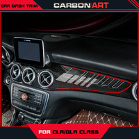 GLA CLA Carbon Fiber ABS Interior Dashboard Trim For Mercedes Class W117 X156 Kits ACD Cover with 3M Tape Easy to Install 2014+