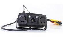 2 in 1 Sound Alarm Parking Assistant System Radar Detector Sensor HD Car Reverse Backup LED Rear View Camera
