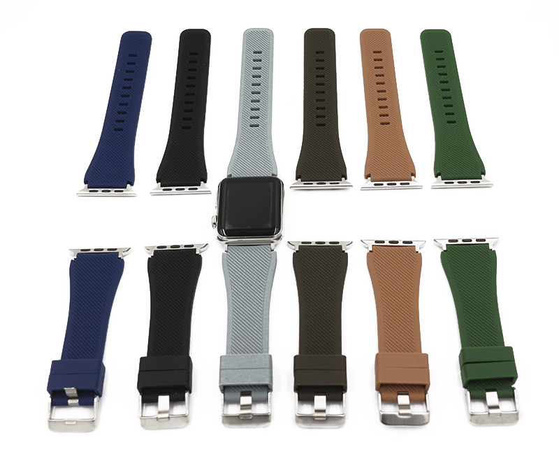 URVOI band for apple watch series 1 2 3 sport strap for iWatch Soft Silicone Replacement Flexible Breathable band summer colors eache silicone watch band strap replacement watch band can fit for swatch 17mm 19mm men women