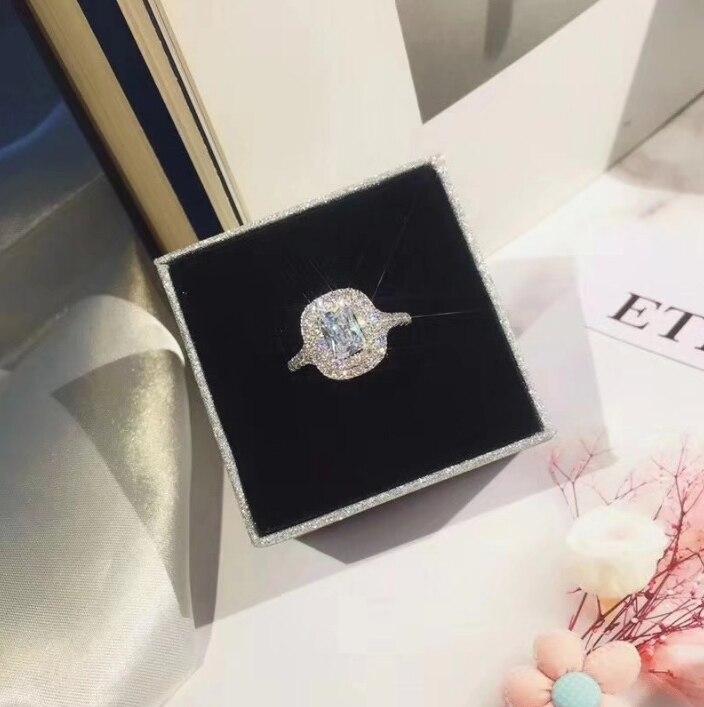 Vintage anneau pavé réglage 5A zircon Cz 925 en argent Sterling fiançailles bague de mariage anneaux ensemble pour les femmes bijoux de mariée