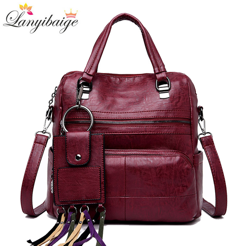 Luxury Women Backpacks High Quality Leather Woman School Shoulder Bags For Teenage Girls Fashion School Bag Travel BackpacksLuxury Women Backpacks High Quality Leather Woman School Shoulder Bags For Teenage Girls Fashion School Bag Travel Backpacks