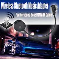 KROAK Black Interface Wireless bluetooth Music Adapter For MMI AUX Cable For Mercedes Benz