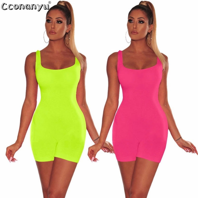 cconanyu 2019 Summer Sexy Casual Rompers Slim Backless Short Playsuits Jumpsuits