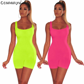 2019 Summer Playsuit Women Sexy Casual Rompers Slim Backless Woman Short Playsuits and Jumpsuits Skinny Sportswear Womens