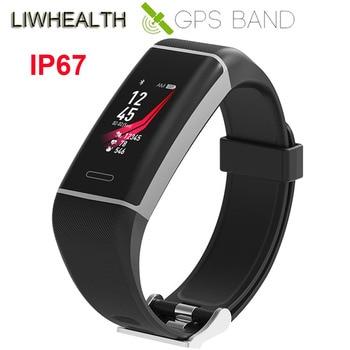 df5b6d51608c Color barato reloj inteligente GPS de pulsera de Fitness Monitor de ritmo  cardíaco GPS velocidad de ejecución para IOS Xiaomi Honor  Sony PK mi banda  3 4
