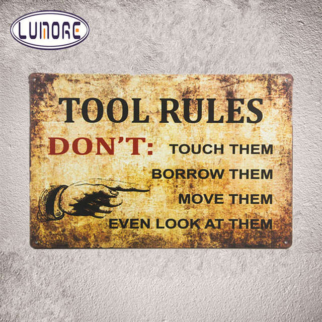 TOOL RULES DONT TOUCH\