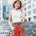 E verão Camisola curta magro Coreano feminino de todos os jogo pequeno colete sexy estudantes T-shirt assentamento umbilical vazamento