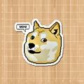 DOGE Kabosu Notebook/refrigerator/skateboard/trolley case/backpack/Tables/book sticker PVC sticker