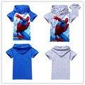 New 2016 boys t shirt t-shirts kids baby spiderman spider-man children clothing clothes roupas infantis menino vetement garcon