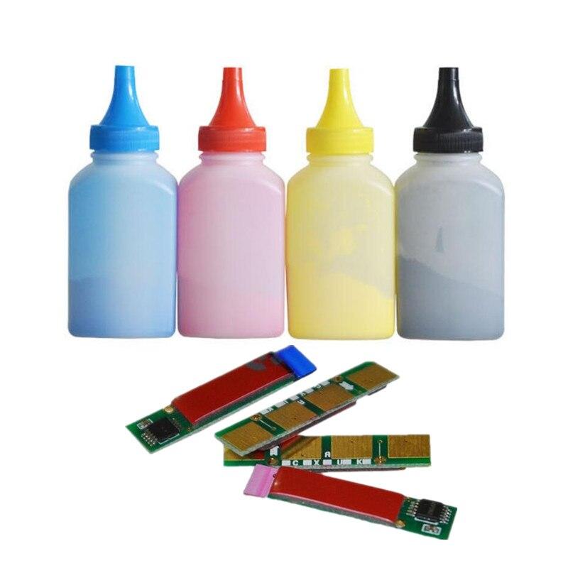 Livraison gratuite pour samsung CLT 407 cartouche puce + 4 pièces poudre de toner pour Samsung CLP 320 325 CLX 3185 3186 laser pirnter