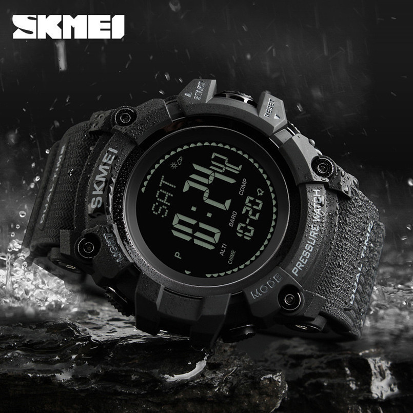 SKMEI Mens Sports Watches Pedometer Digital Watch Altimeter Barometer Compass Thermometer Weather Forecast Multifunctional Watch sports watches men pedometer calories digital watch women altimeter barometer compass thermometer weather reloj hombre skmei