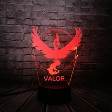 Valor Pokemon Go Game Eagle 3D Lamp Visual LED USB 7 Colors Change Kids Toys Child Best Gift Table Decor Children Night Light