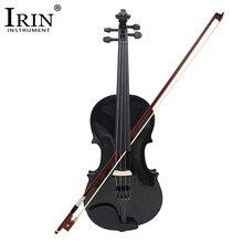 ADDFOO 4/4 полноразмерная акустическая скрипка из твердой древесины скрипка черный чехол с бантом канифоль струнный инструмент для детей студентов начинающих