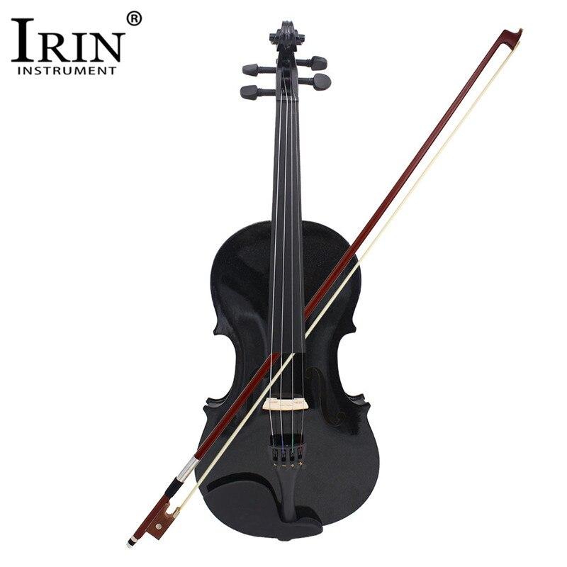 ADDFOO 4/4 Full Size Acoustic Violino In Legno Massello Violino Nero Con Il Caso Bow Rosin Strumento A Corde Per I Bambini Studenti Principianti
