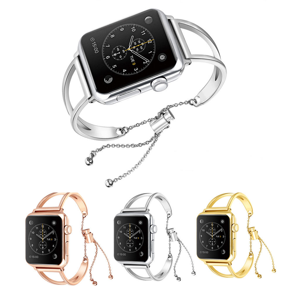 For Apple Watch iWatch Wrist Band Strap Stainless Steel 38/42mm Women Bracelet Watchbands For Apple Watch iWatch mking apple watch iwatch