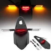 Универсальный мотоцикл светодио дный светодиодный тормоз задний-крыло задний фонарь стоп Поворотная сигнальная лампа сборка пробный велосипед для Fender мотоцикл задние фонари