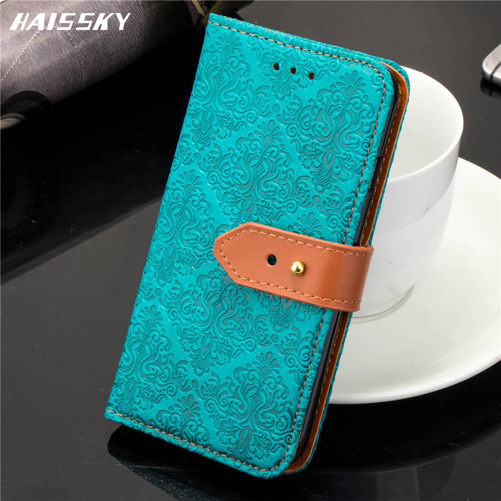 Vintage 3D European Mural Leather Case For iPhone X 7 8 Plus 6 6s Luxury Wallet Card Case For iPhone 9 Plus Book Capa Flip Cover