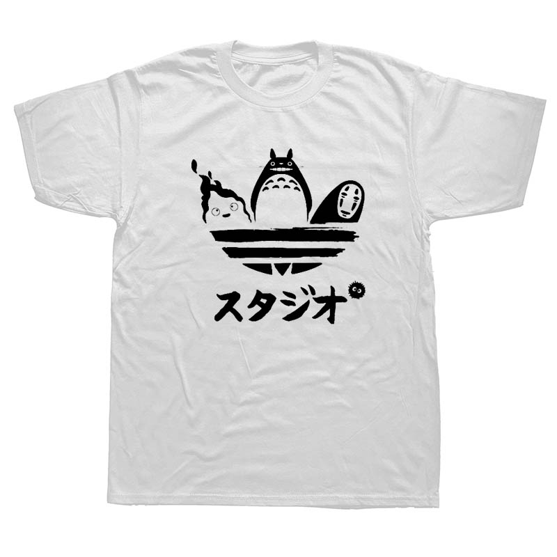 WEELSGAO Harajuku Tees Cartoon Totoro Spirited Away T Shirt No Face Faceless Man Tshirt Men Short Sleeve Cotton T-shirt ...