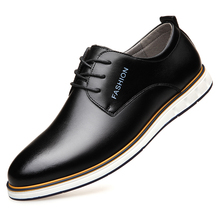Dropshipping British FashionBusiness Mens Casual Leather Shoes Ofords Footwear Flats Pointed Toe Official Dress DB074