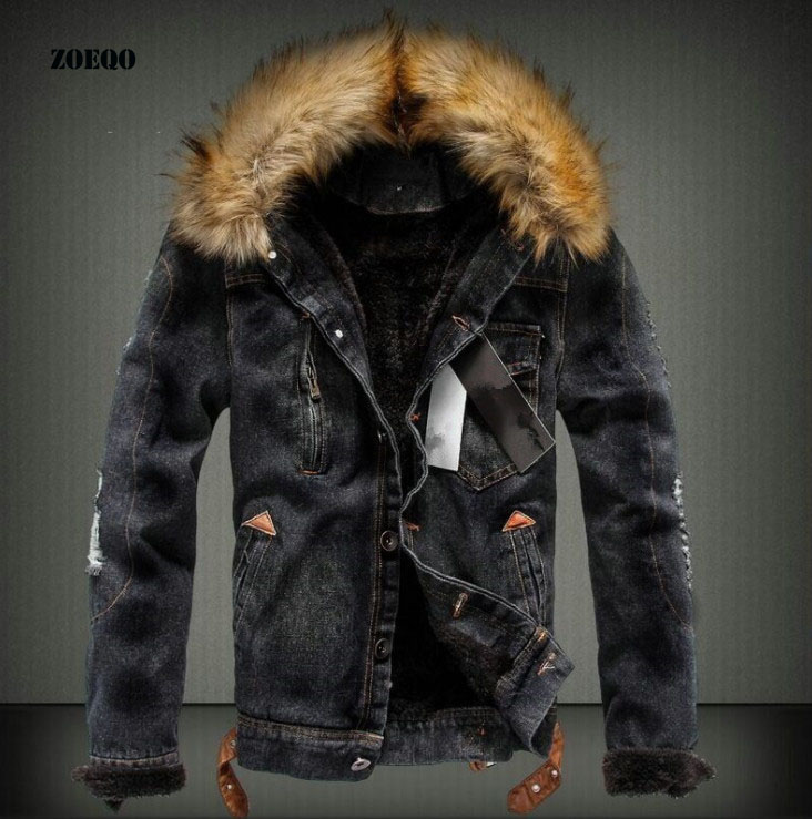 ฤดูหนาวใหม่หนา Denim แจ็คเก็ตแฟชั่นผู้ชาย Denim แจ็คเก็ตผู้ชาย slim Fit สีสบายๆเสื้อผู้ชายยี่ห้อ Plus กำมะหยี่ Outwear Coat-ใน แจ็กเก็ต จาก เสื้อผ้าผู้ชาย บน AliExpress - 11.11_สิบเอ็ด สิบเอ็ดวันคนโสด 1