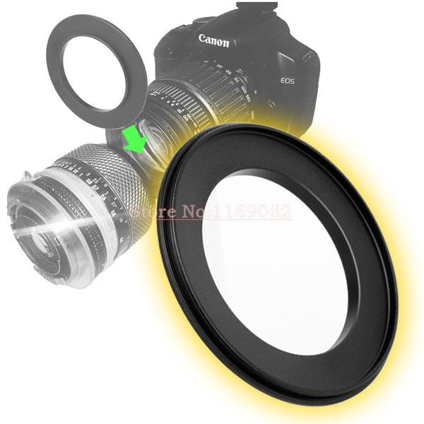 2 шт. мужчинами кольцо объектива 49 мм-62 мм 49 до 62 мм Макро Обратный кольцо для 49 до 62 мм Крепление объектива для расширения труб адаптеры