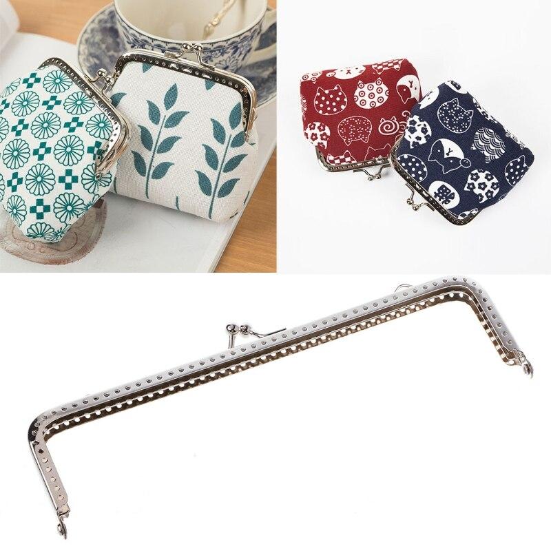 1PC Square Metal Frame Kiss Clasp For Handle Bag Purse Accessories DIY 18cm