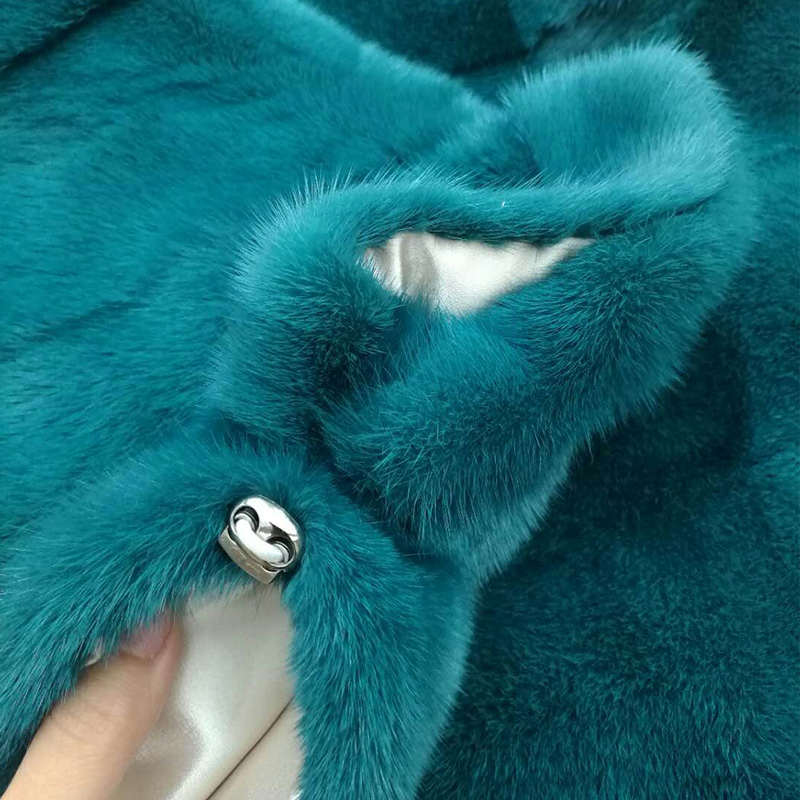 2018 Full Pelt Real Mink Fur Coats Women Fashion oversized Bat Sleeved coat female Autumn Winter Natural Genuine Leather coats in Real Fur from Women 39 s Clothing