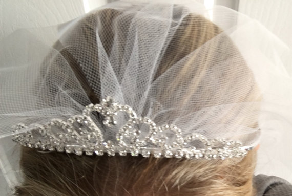 Velos Para Novia Sliver Crown Veil Princess Wedding Bridal Hair Accessories Queen Party In Veils From Weddings