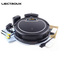 LIECTROUX B2005PLUS Robot Vacuum Cleaner With Water Tank Wet Dry Touch Screen WithTone Schedule Virtual Blocker