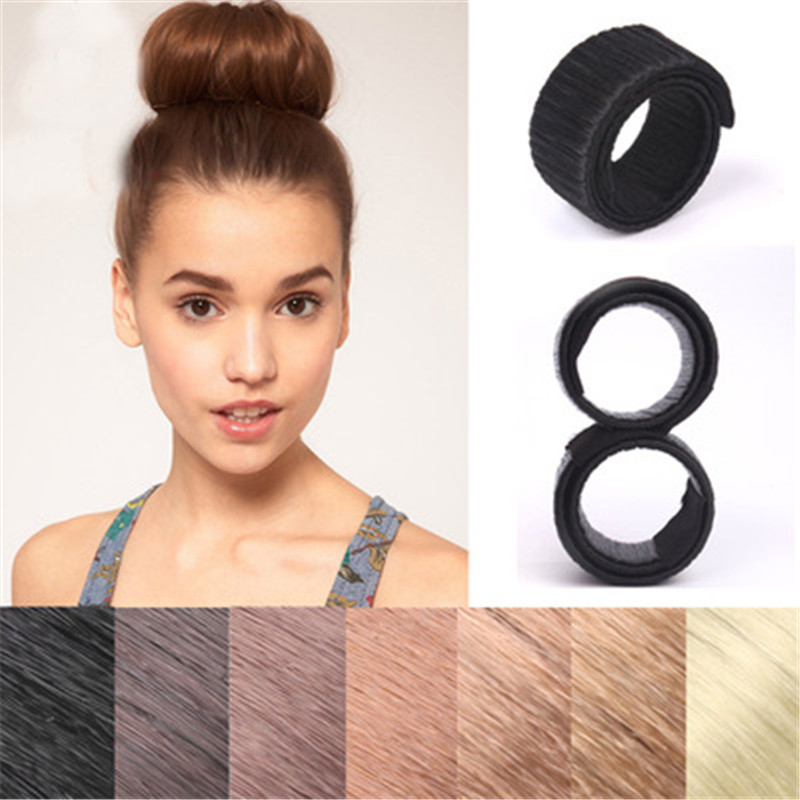 Dropshipping 1pc Magic Hair Styling Multi Function Hair Donut Girls Hair Accessories French Twist Magic DIY Tool Bun  Hair Maker