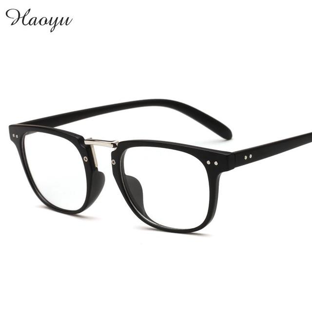 haoyu Plastic + alloy full Plain Glasses frames Retro Vogue ...