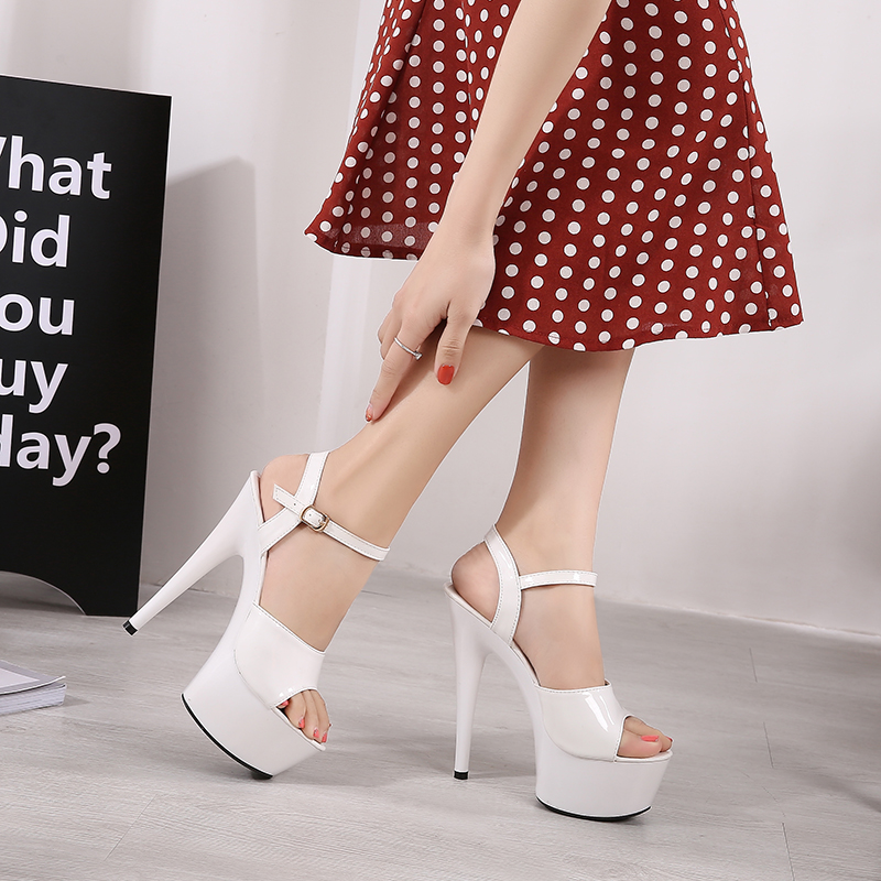 Detail Feedback Questions about Sandals Shoes Woman Clear Heels Platform  2019 Beach Sexy Sandals Wedding Shoes Steel Tube Dancing Girl Stripper Shoes  Open ... d8520d1a6b20
