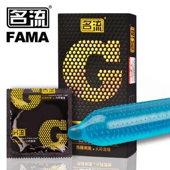 MingLiu 10 pièces Top qualité G spot préservatif retard Ejaculation mâle grosse particule g-point manchon pénis Sex Toys contraception sûre