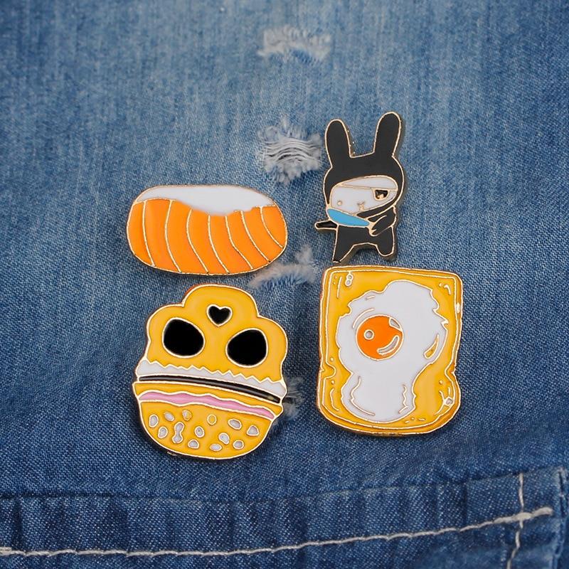 Arts,crafts & Sewing 1 Pcs Cartoon Panda Elephant Metal Badge Brooch Button Pins Denim Jacket Pin Jewelry Decoration Badge For Clothes Lapel Pins Elegant Shape