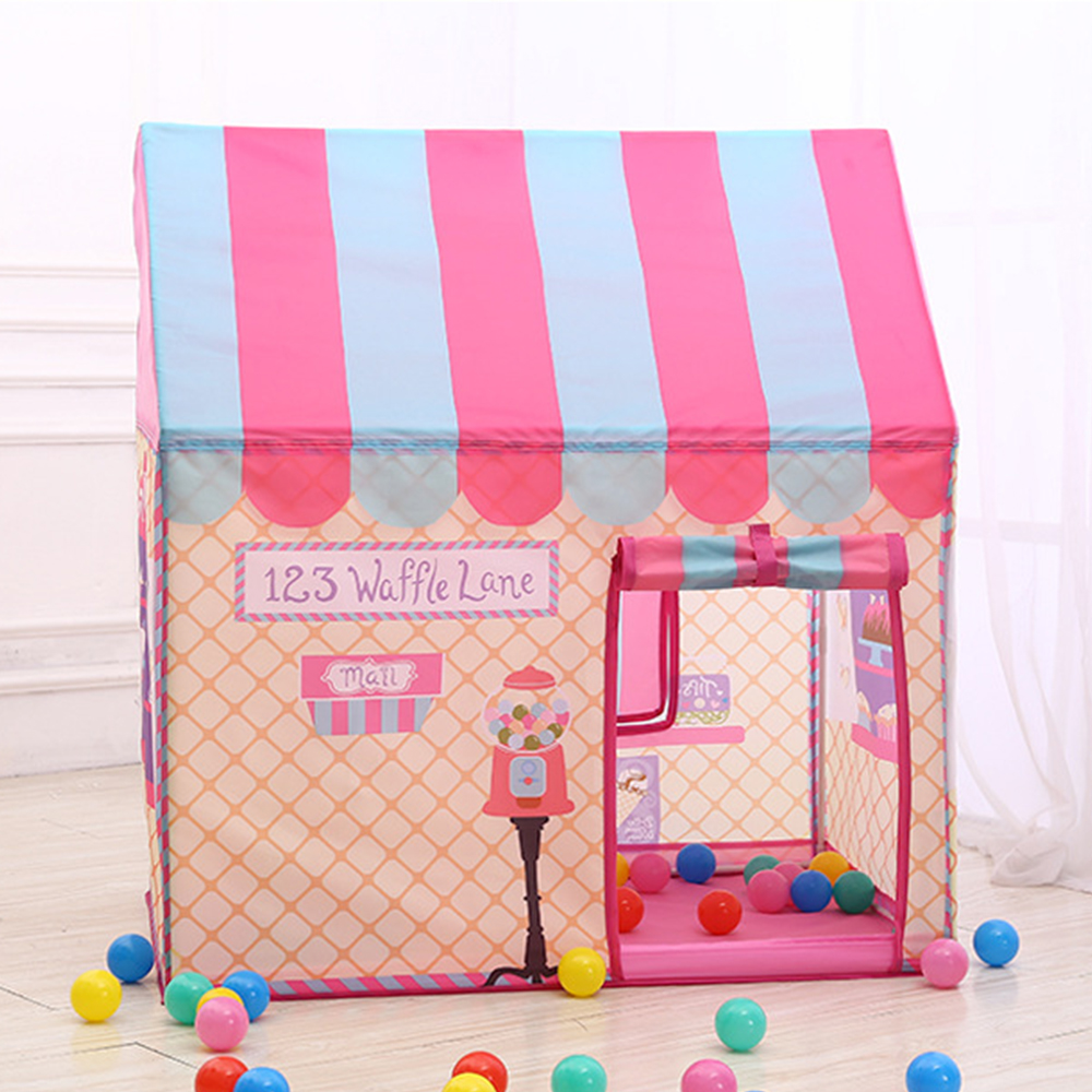 Children Tents Playhouse Foldable Pink White Simulation Games House Indoor Outdoor Play Princess Toy Tent Kids Christmas Gifts