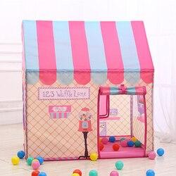 Детские палатки, игровой домик, складной, розовый, белый, для игр, для дома, для улицы, для игр, принцесса, игрушка, палатка для детей, рождеств...