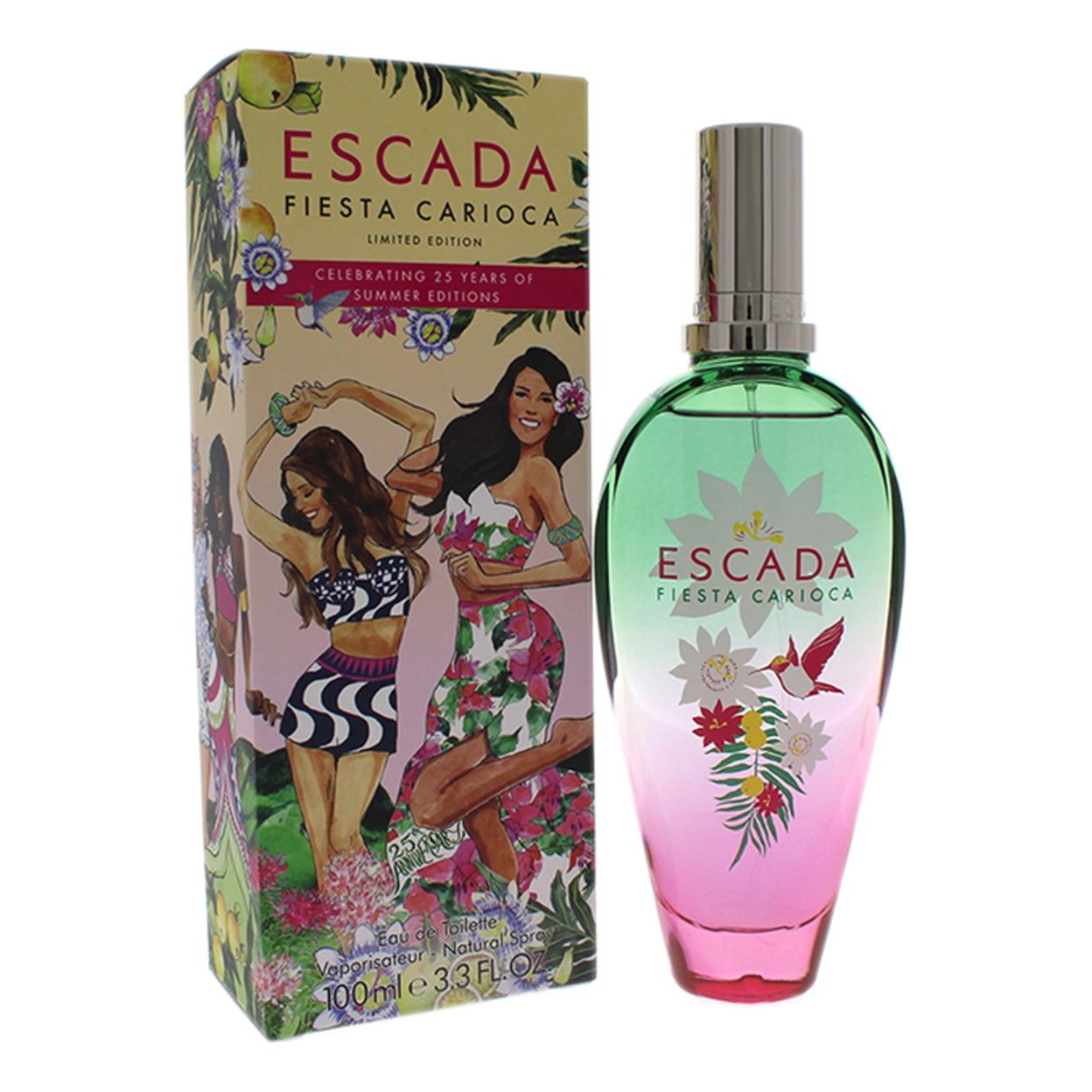 Fiesta Carioca by Escada for Women - 3.3 oz EDT Spray (Limited Edition) escada escada fiesta carioca туалетная вода 50 мл