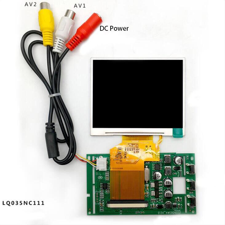 3.5inch 320(RGB)x240 TFT-LCD Screen With LCD Driver Board AV1 AV2 Car Monitor Display AV Board