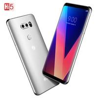 Разблокированный LG V30 плюс мобильный телефон V30 + 4 Гб Оперативная память 128 Гб Встроенная память Octa Core Dual Sim 6,0 ''13MP & 16MP Камера 4 аппарат не привя...