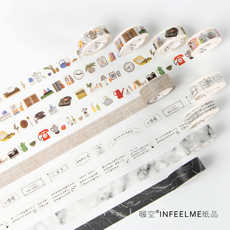 2rolls 100Kinds Of Life Craft Washi Tape Scrapbooking Diary Decorative Paper Sticker Gifts Wrapping Masking Tape Cute Stationery bulk christmas trees washi tape set of 12pcs fun versatile and decorative craft tape card making