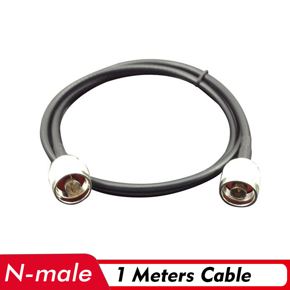 1 Meter Coaxial Cable N Male Connector Low Loss Signal 1M Cable Connect With Outdoor/Indoor Antenna And 2G/3G/4G Signal Booster