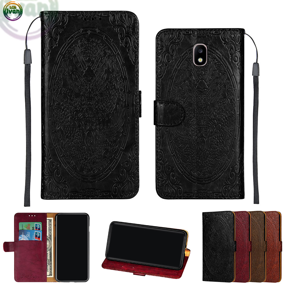 online store 3f708 55aa5 US $4.36 7% OFF|Wallet Flip Case For Samsung Galaxy J7 J 7 2018 SM J737T SM  J737A Phone Leather Cover For Galaxy 7J 2018 SM J737T J737A Dragon-in ...