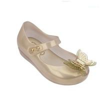 2017 VENTE CHAUDE Mini Melissa 3D Papillon De Gelée Sandales De Gelée Enfants Sandales Princesse Chaussures De Mode Mini Melissa Sandales Fille